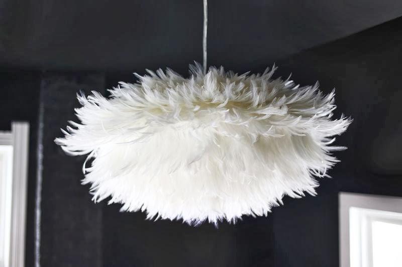 Лампа своими руками из перьев