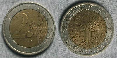 france 2 euro 2001