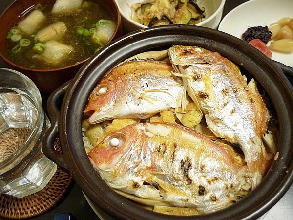 昨日の晩酌 連子鯛の炊き込みご飯