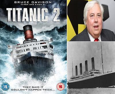 Clive Palmer (atas, kanan) bercita-cita besar ingin membina kapal Titanic II yang bakal memulakan pelayaran pertamanya dari England ke New York pada 2016. (Sumber gambar dari Google.)