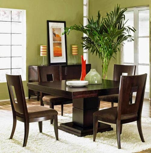 contemporary dining room decorating ideas with indoor palm tree