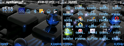 FREE Download Themes Nokia Symbian E63, E71, N8 Series Blue Sheen