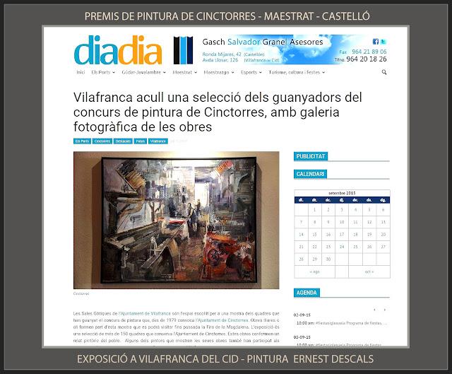 CINCTORRES-PINTURA-PREMIS-MAESTRAT-CONCURS-MAESTRAZGO-EXPOSICIÓ-VILAFRANCA DEL CID-CASTELLÓ-ARTISTA-PINTOR-ERNEST DESCALS