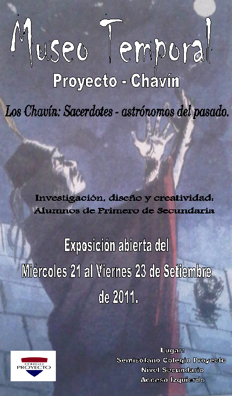 Afiche de propaganda para el Museo Temporal Proyecto-Chavín