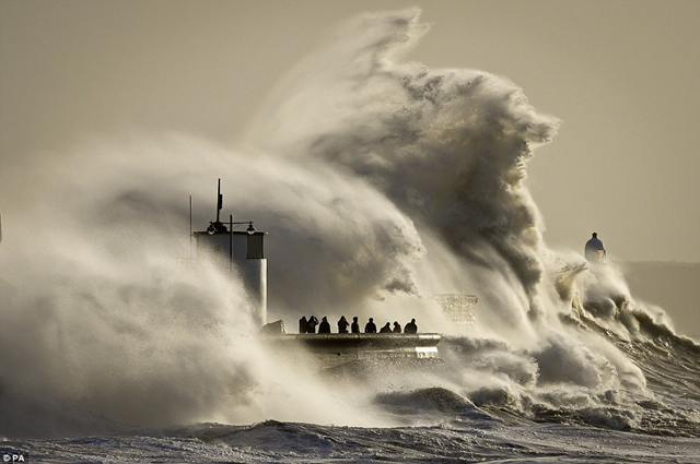 Historic Black Swell Hits Europe With 60-foot Waves