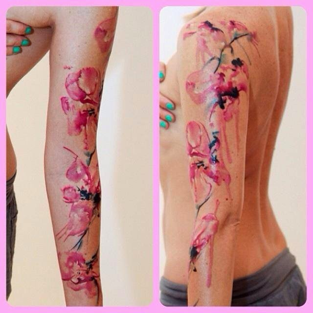 karin johannesson contemporary watercolour another tattoo