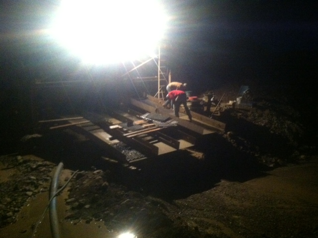 Gold Mining At Night
