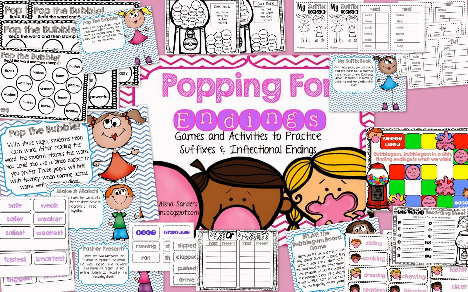 http://www.teacherspayteachers.com/Product/Popping-For-Endings-Games-Activities-for-Suffixes-Inflectional-Endings-1129278