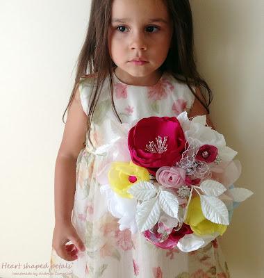 Fabric Wildflower bouquet