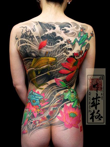 Tatuajes japoneses en la espalda