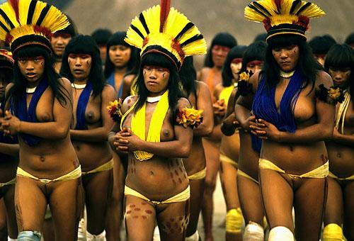 Adventures all around the world: Xingu park tribal girls