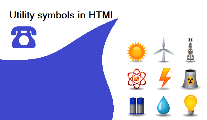 Utility Symbols in HTML