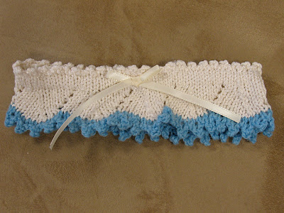 Knitting Pattern For Lace Garter : The Knitting Needle and the Damage Done: Something Borrowed, Something Blue, ...