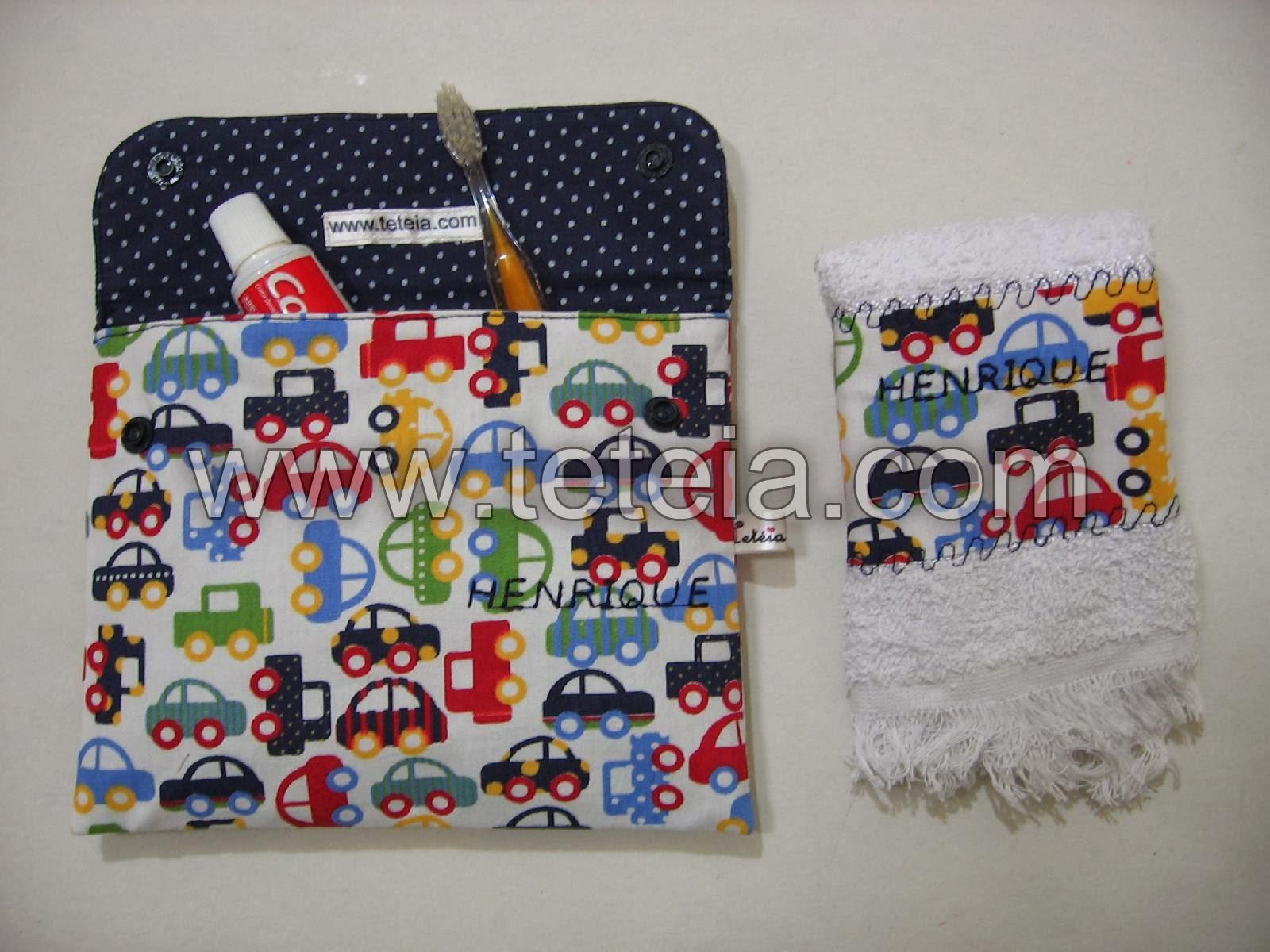 Tetéia Patchwork: Kit de higiene bucal infantil carrinhos/marinho  #832025 1600x1200