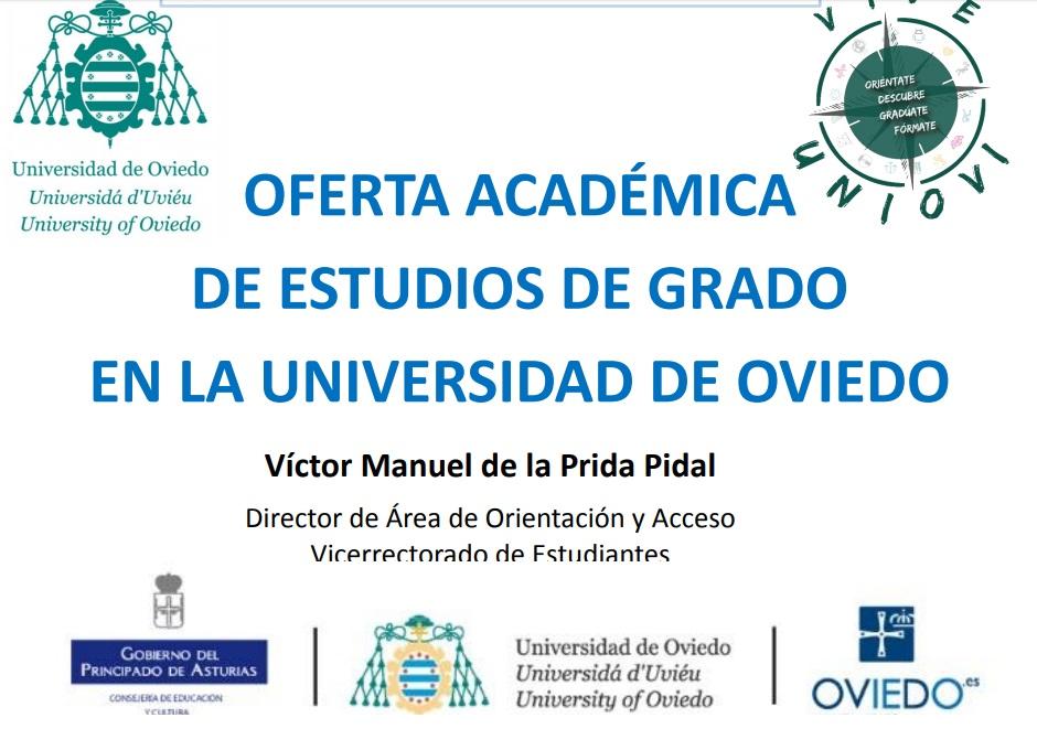 Oferta académica de estudios de grado en la Universidad de Oviedo
