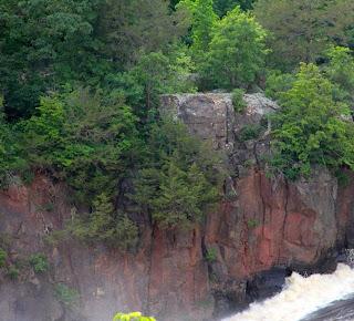 photo of St. Croix Falls bedrock