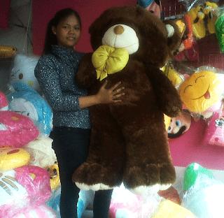 boneka teddy bear besar coklat