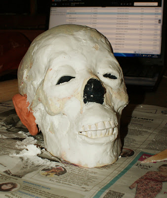 Beginning of facial construction.
