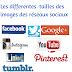 Les différentes dimensions des images des réseaux sociaux