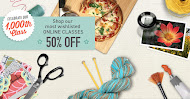 On line Classes at Craftsy 50% off Most Wish Listed