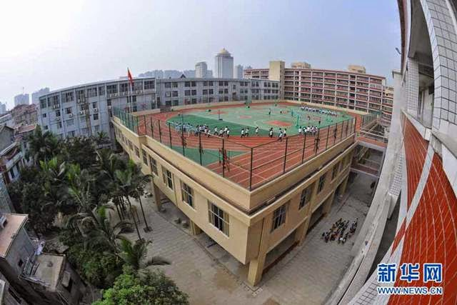 School Stadiums on the Roofs — China