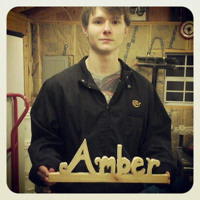 DIY Handmade GIft Idea - Personalized Handmade Custom Name Sign