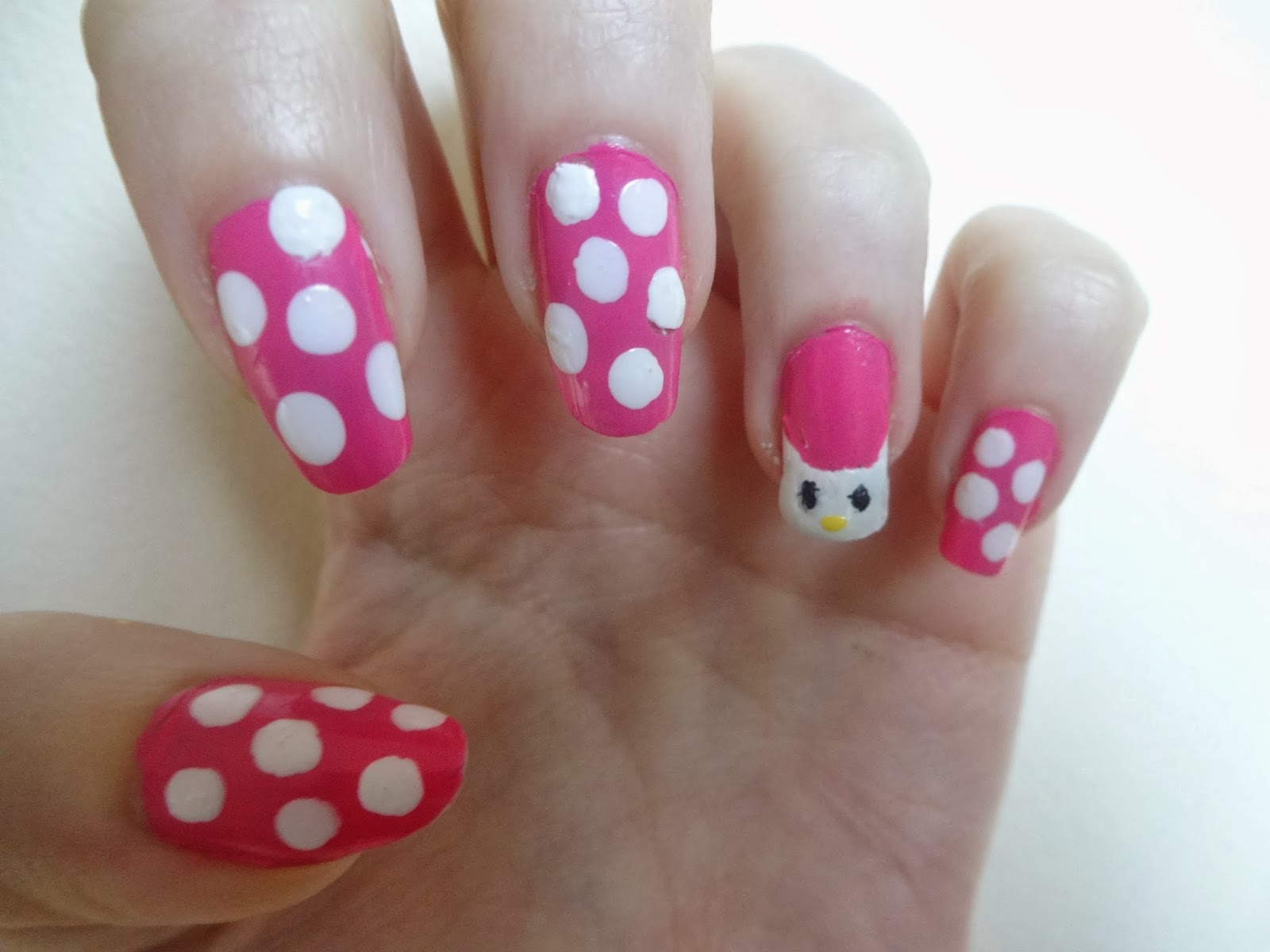 Tutorial: Hello Kitty Nails (Requested by Hellen)