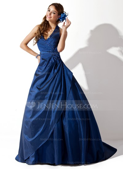 navy blue prom dress, evening wear