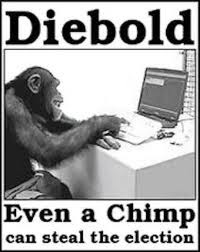 diebold, chimp, election photo