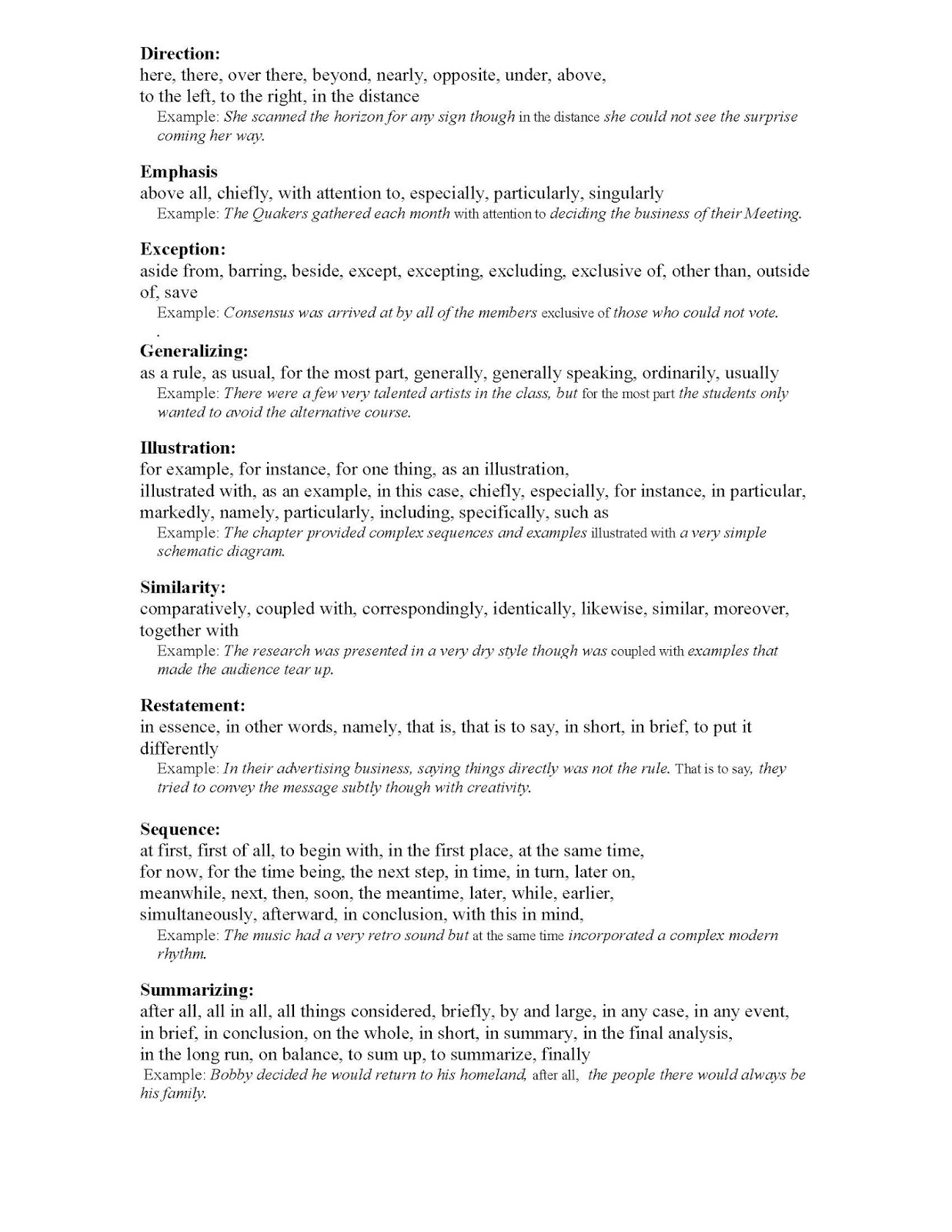 good transitions for formal essays Find and save ideas about conclusion transition words on pinterest good transitions for essays what are the essay transitions organization, support, transitions, precise language, formal style, conclusion and conventions common core aligned see more education policy no excuses.