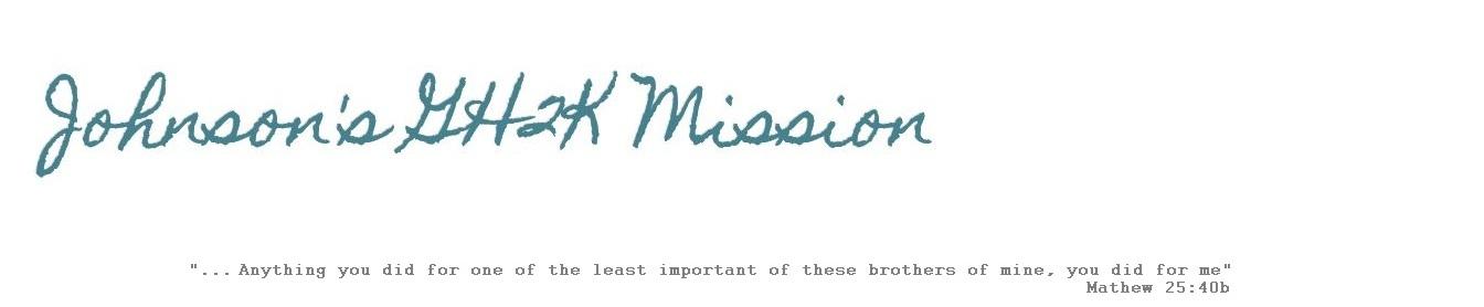 Johnson's GH2K Mission
