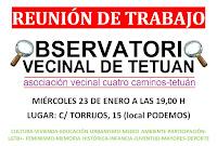 Reunión de trabajo: Observatorio Vecinal de Tetuán