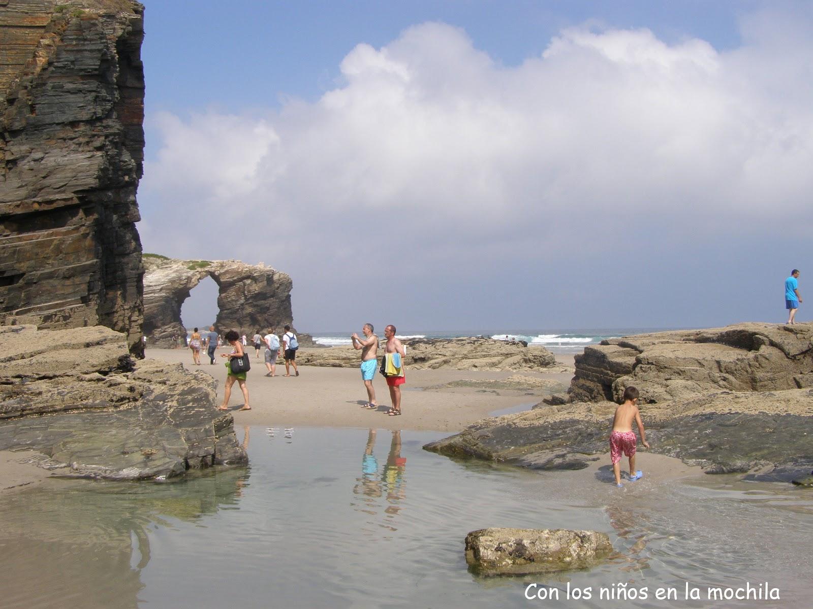 playa de las catedrales en octubre