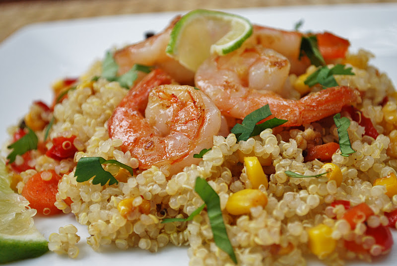 Cheese Please: Ginger Lime Shrimp Quinoa with Red Pepper and Yellow ...