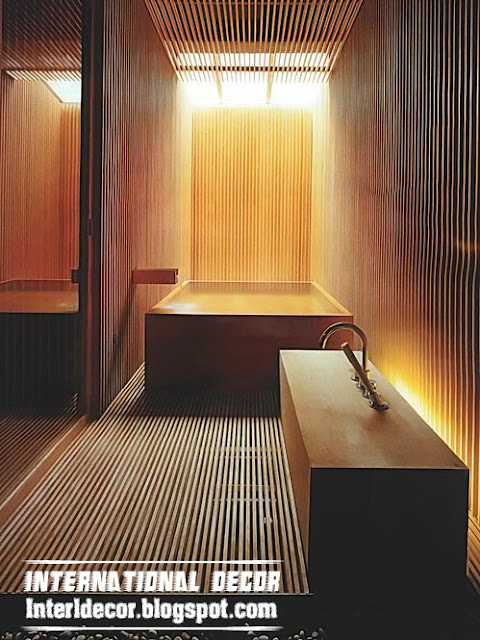 wooden bathroom