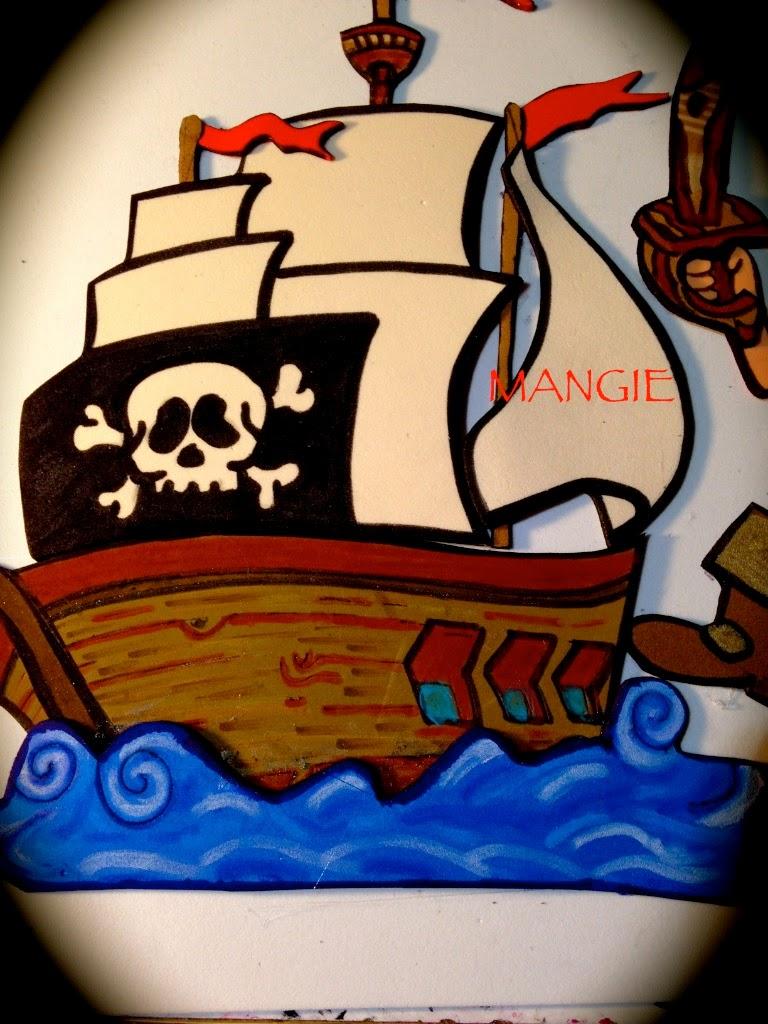 Detalle del barco pirata