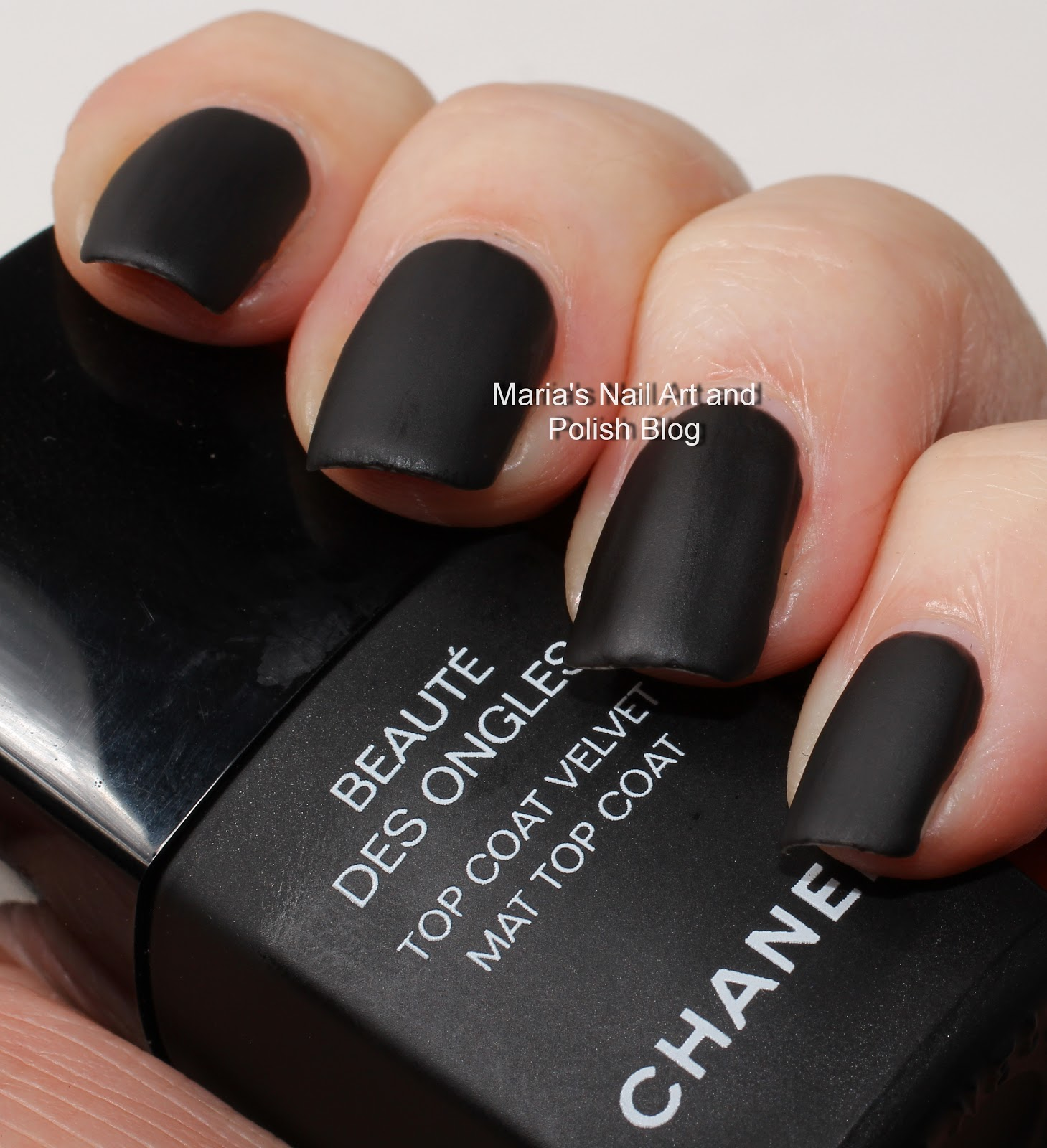 Marias Nail Art And Polish Blog: Chanel Velvet Mat Top