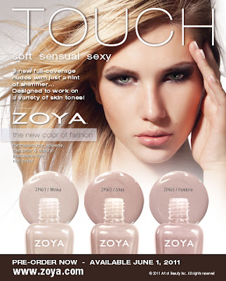 Zoya Touch nude nail polish launch RGB Proggressive girl nude