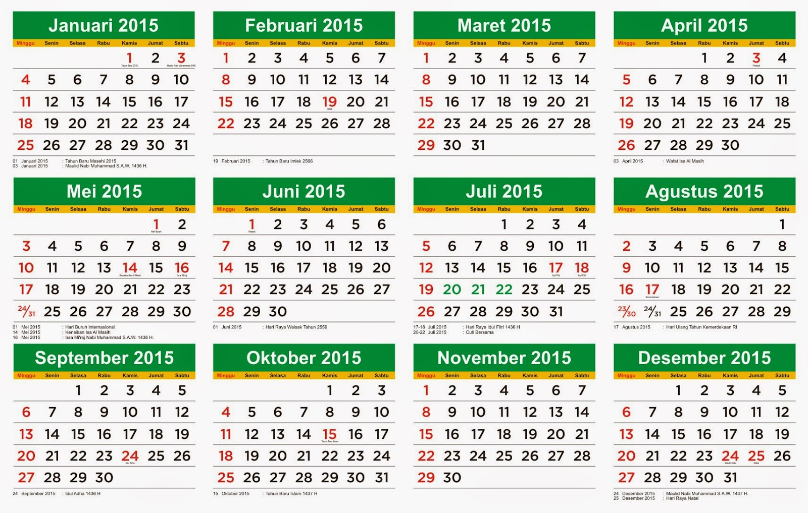 download kalender 2015 lengkap hari libur dan cuti bersama wulucumbu. Black Bedroom Furniture Sets. Home Design Ideas