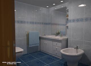 Vista de un baño hacia un lavabo con espejo y bidet