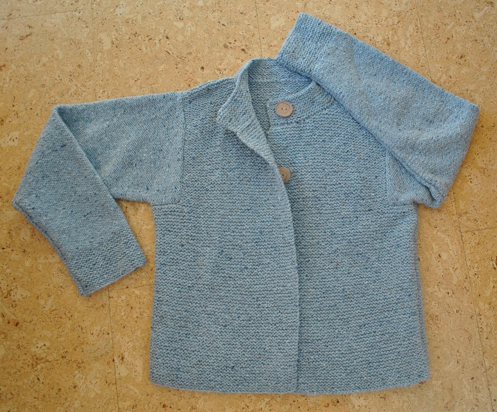 Iceberg garter-stitch jacket - Handmade by Carolyn