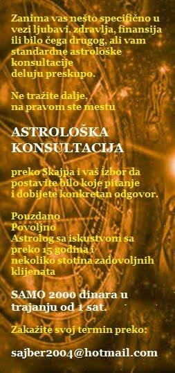 astrološka konsultacija cena 2000 dinara za 1 sat