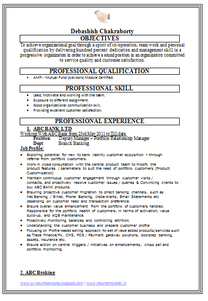 free downlod link for sales resume sample banking with experience - Banking Sales Resume