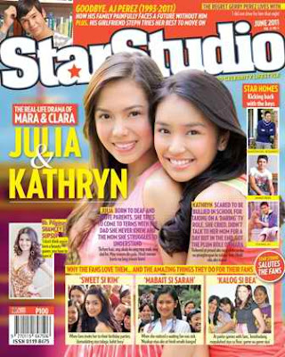 Julia Montes Kathryn Bernardo StarStudio Magazine June 2011 cover
