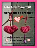 Reto Amistoso nº 61 (Corazones a crochet)