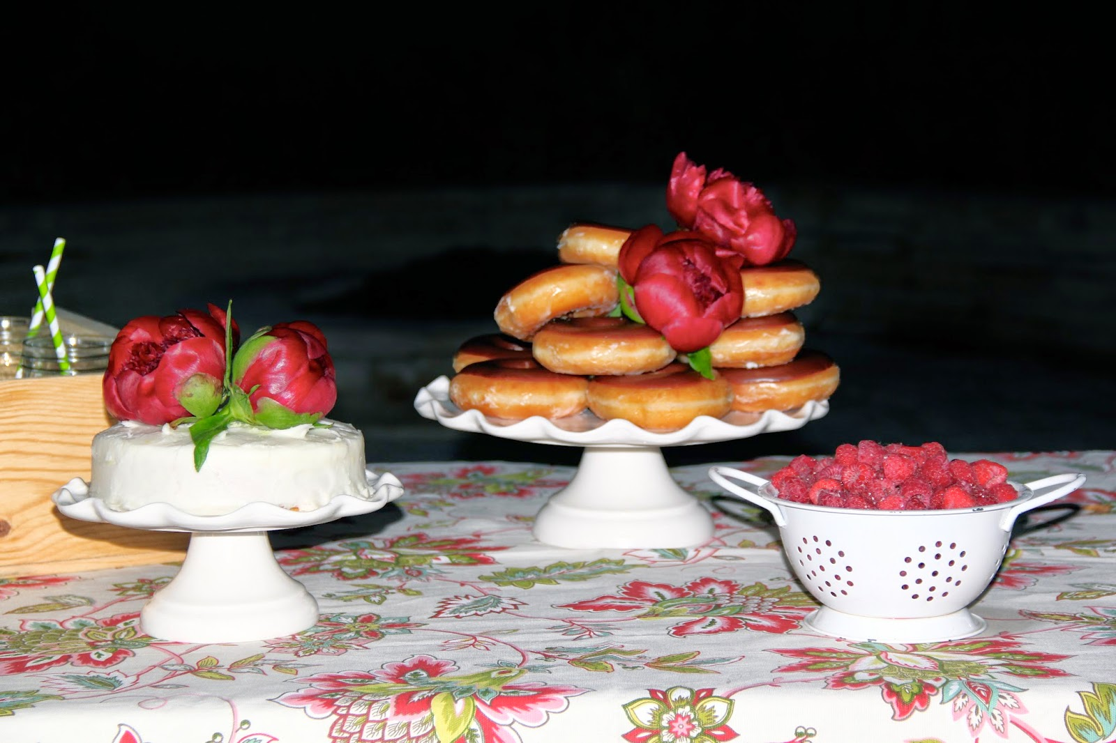 Candle, Donuts, Cake, Lemonade, Candle, Raspberries, Lanterns