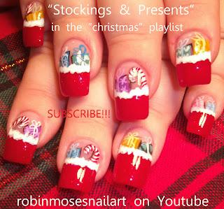 Christmas Nails Sock Monkey Nail Snowman Nail Santa Nail Rudolph