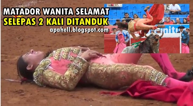 Matador Wanita Panjang Umur Selepas 2 kali Ditanduk Gamusino (4 Gambar) http://apahell.blogspot.com/2014/12/matador-wanita-panjang-umur-selepas-2.html