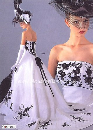 Black  White Dress on Black And White Wedding Dress Decoration Designs   Wedding Dressees