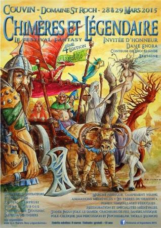 Affiche du festival Chimères & Légendaire 2015